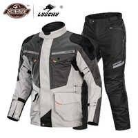 LYSCHY Motorrad Jacke Sommer Moto Anzug Motorrad Reiten Jacke Motocross Jacke Atmungsaktive Wasserdichte Motorrad Schutz
