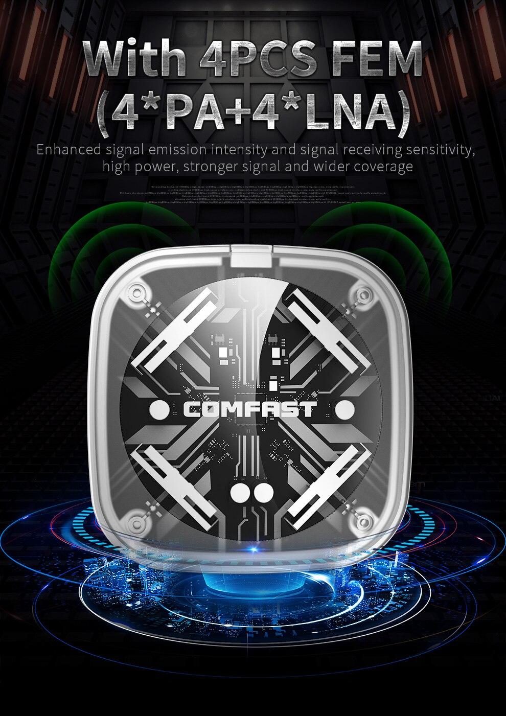 محول واي فاي لاسلكي 1900Mbps ثنائي النطاق 5Ghz 2.4Ghz محول 802.11ac RTL8814AU شرائح دونغل الجوي USB بطاقة الشبكة الصغيرة