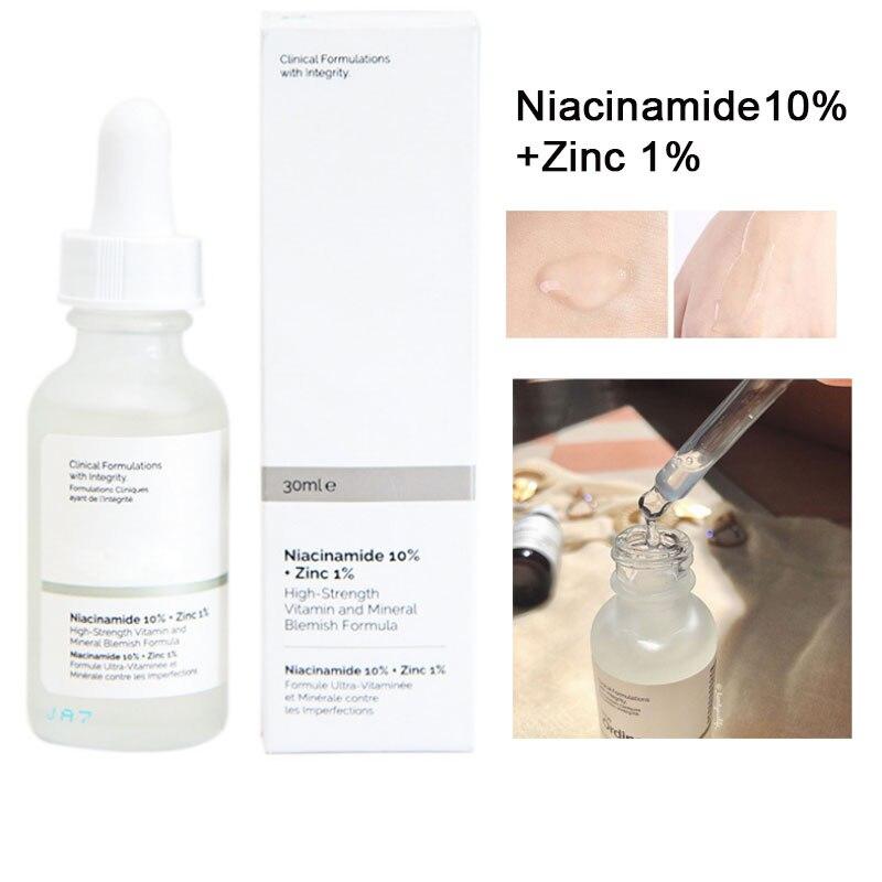 The Ordinary Skin Care Niacinamide 10% + Zinc 1% 30ML Face Serum Oil Balance Reduce Skin Blemishes Whitening Lasting Moisturizer