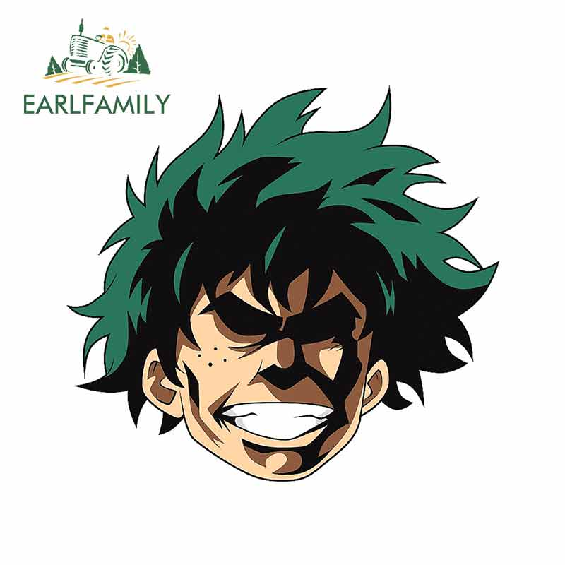EARLFAMILY 13cm X 11.7cm For My Hero Academia Car Door Stickers Funny Fine Decal Personality Creative Occlusion Scratch