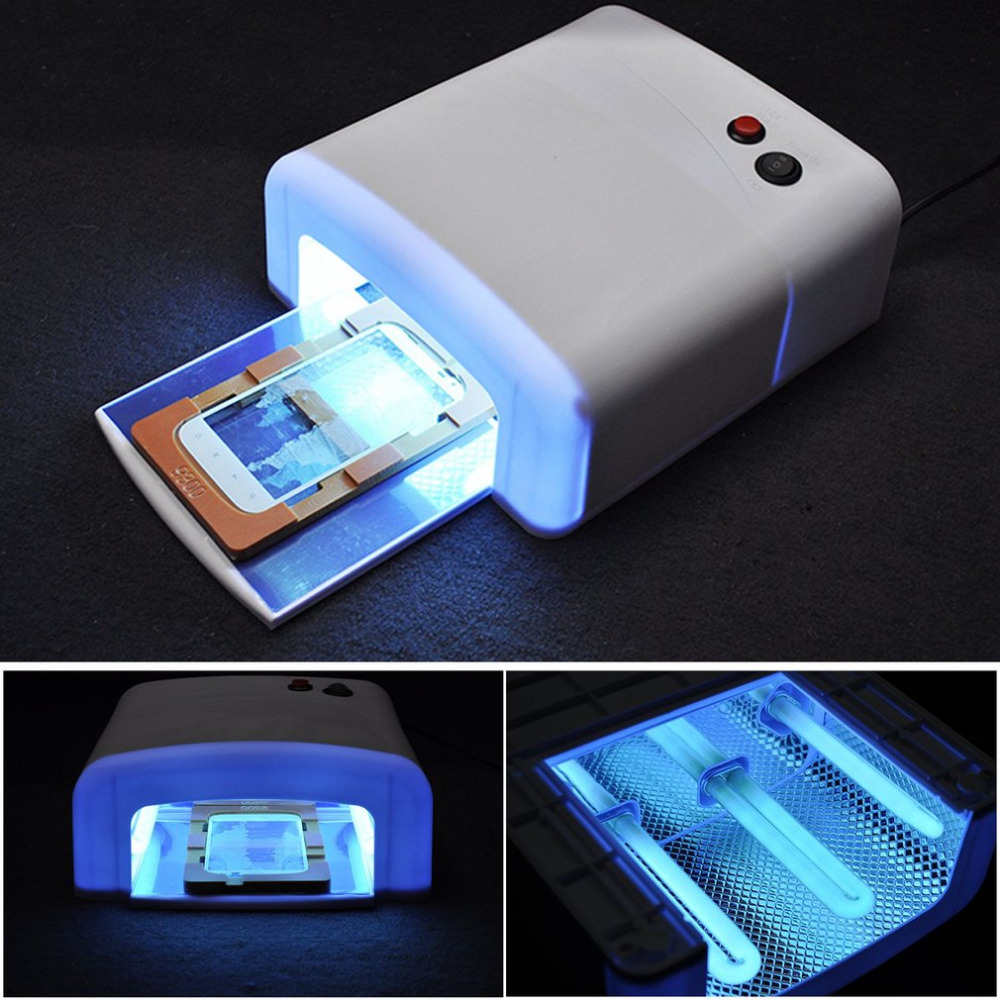 New UV Curing Lamp With 4 Light Tubes Phone LCD Front Screen Glass Dryer Professional UV Light 36W Ultraviolet Lamp