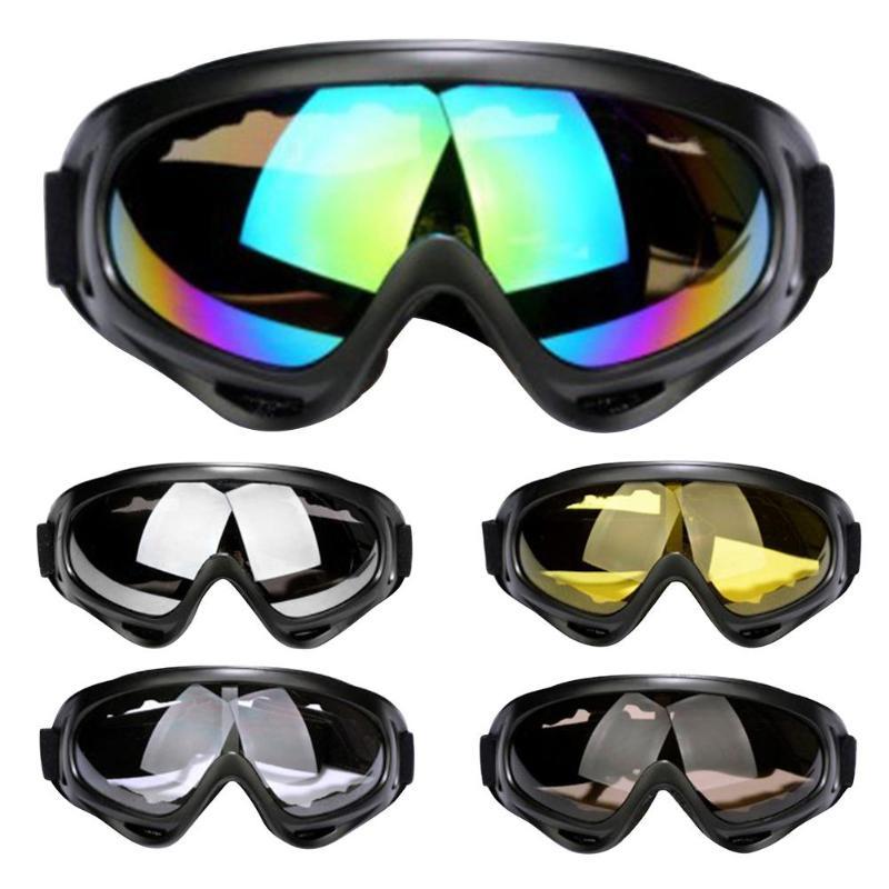 Skiing Goggles Eyewear Winter Wind Snow Sport Snowboard Snowmobile Anti-fog Dustproof Windproof UV 400 Skate Outdoors Sunglasses