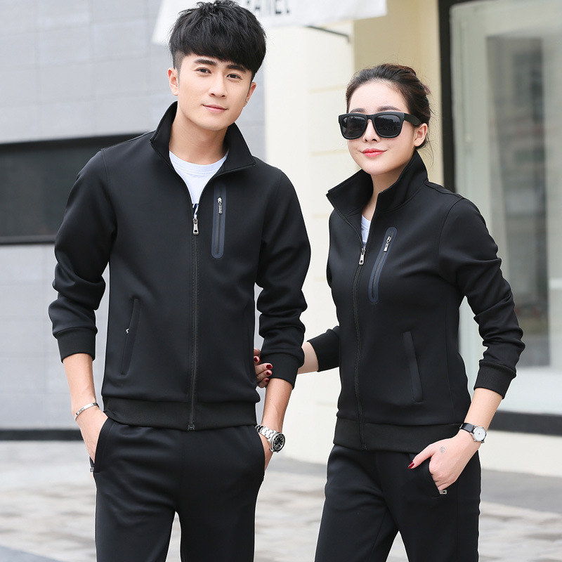 Fashion Casual Couples Set Spring And Autumn New Style Youth Men And Women's Comfortable Slim-Fit By Age Running Sports Clothing