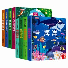 4 Books Peep Inside Animal sea English Educational 3D Flap Picture Books Baby Early Childhood gift For Children reading