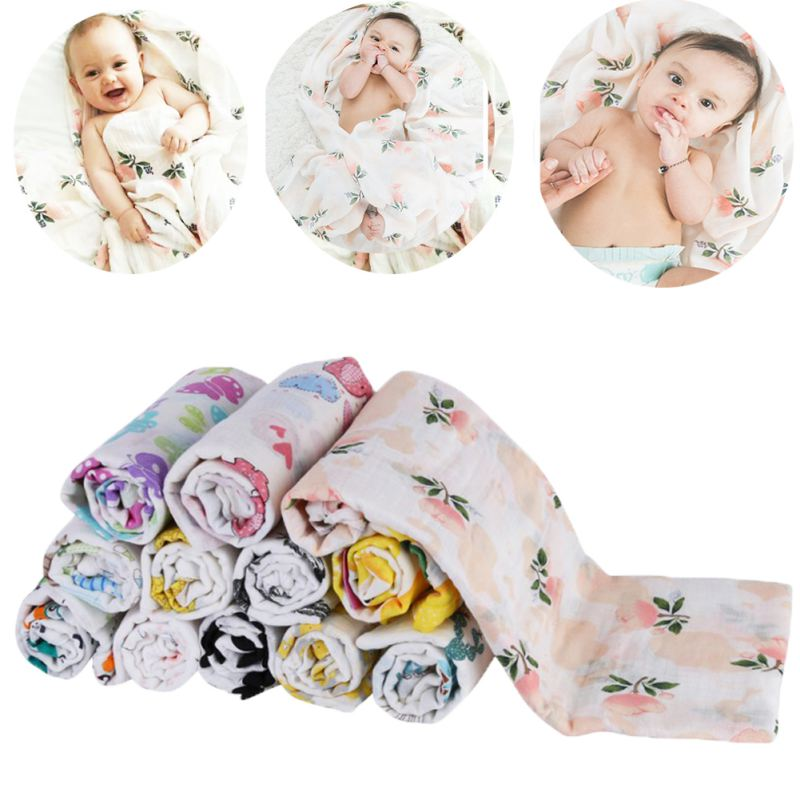 11 Styles Double Gauze Baby Swaddles Soft Newborn Blankets Bath Gauze Infant Wrap Sleepsack Stroller Cover Play Mat 120 * 120