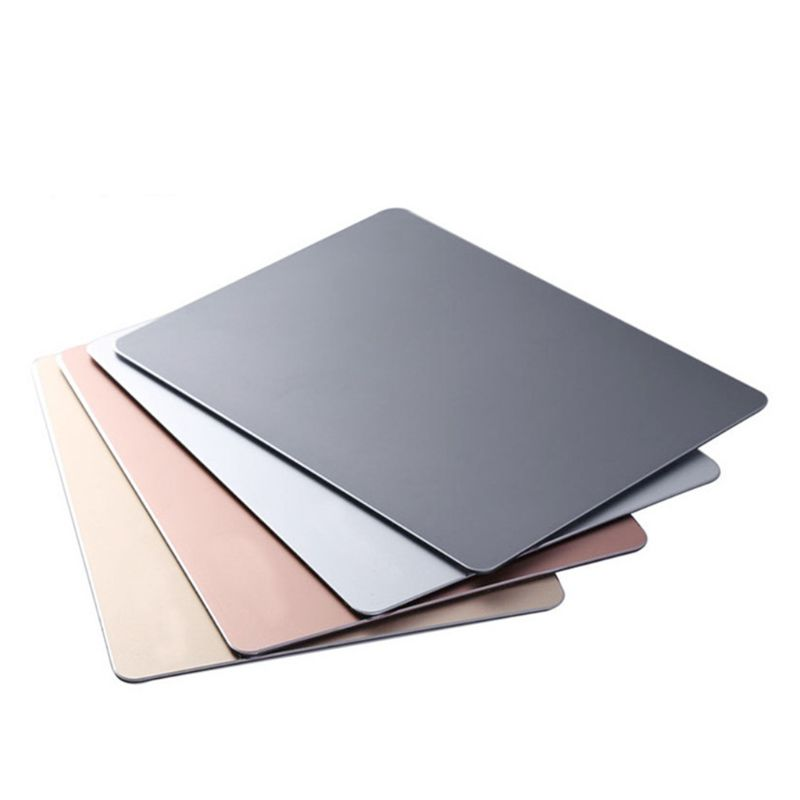22x18CM Aluminum Alloy Mouse Pad Anti-slip Mousepad Gaming Mice Mat For Computer 667C