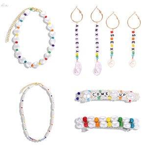 AOMU-Fashion-Colorful-Resin-Beads-Letter-SEX-Earrings-For-Women-Girls-Imitation-Pearl-Dangle-Drop-Earrings