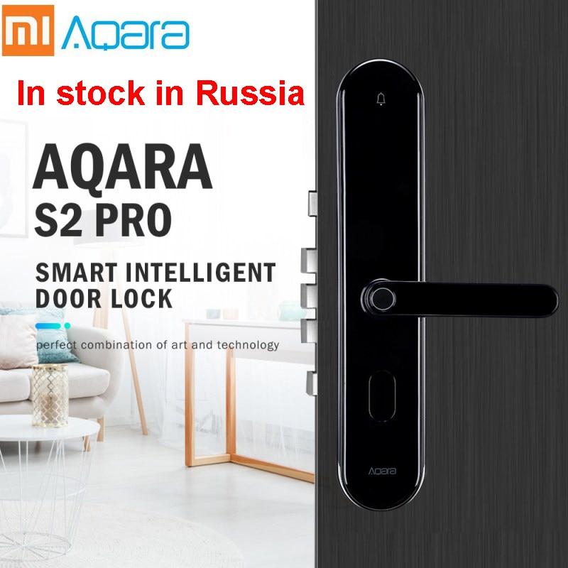 Xiaomi Aqara S2 Pro Smart Intelligent serrure de porte mot de passe clé d'empreintes digitales déverrouiller APP en temps réel moniteur confidentialité verrouillage dispositif à la maison