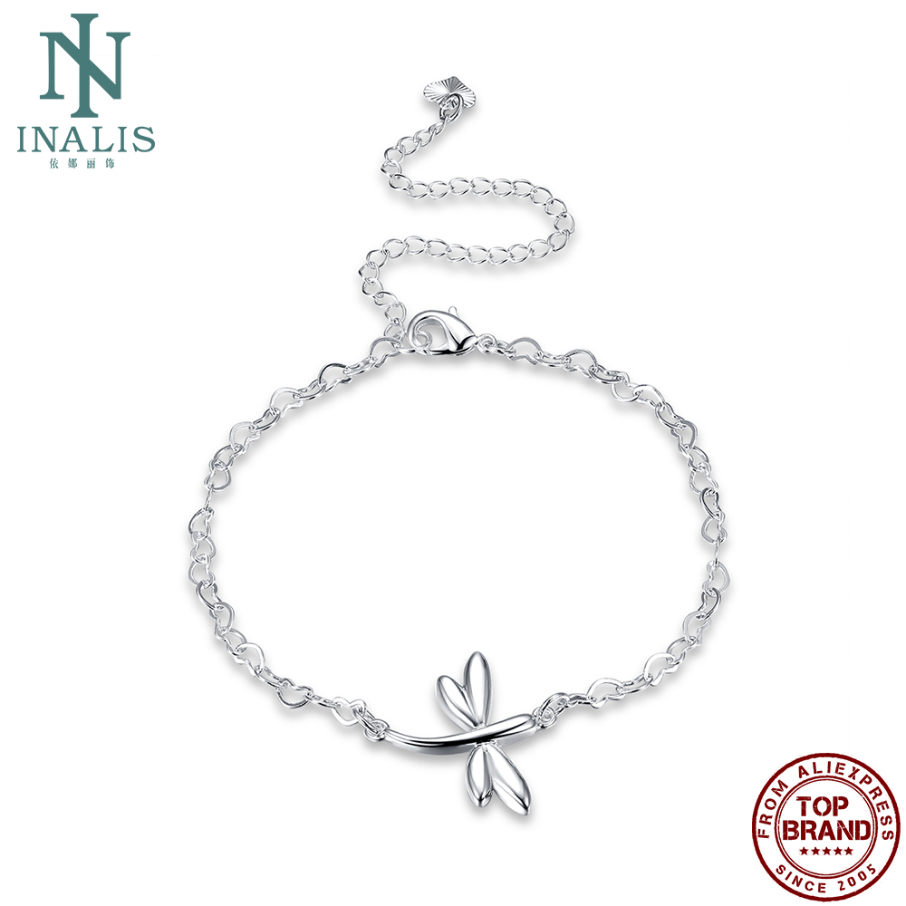 INALIS Fashion Silver Plated Dragonfly Anklet Minimalist Design Woman Anklet New Hot Exquisite Anniversary Gift for Girlfriend