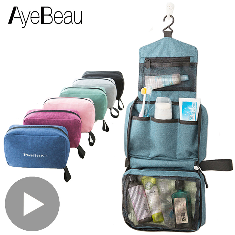 Men Women Toilet Make Up Cosmetic Makeup Bag Case Pouch Travel Organizer For Toiletry Kit Insert Beauty Shower Necessaire Vanity