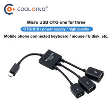 3 Port Micro USB Hub 2.0 USB Splitter High Speed USB Hub For Tablet Laptop Computer Notebook new micro usb hub 3 0 super speed 5gbps 4 port ultra slim usb 3 0 hub usb splitter computer periphearls for pc laptop notebook