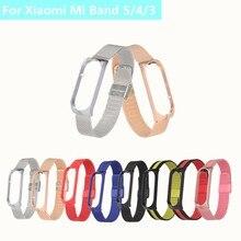 FANGTUOSI Metall Strap Für Xiaomi Mi Band 5 4 3 Handgelenk Armband Schraubenlose Edelstahl MIband Für Mi Band 4 5 Strap Armbänder