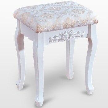 Taburete 40*30*50cm dormitorio acolchado del taburete suave brillante vanidad taburete de tocador muebles para habitación