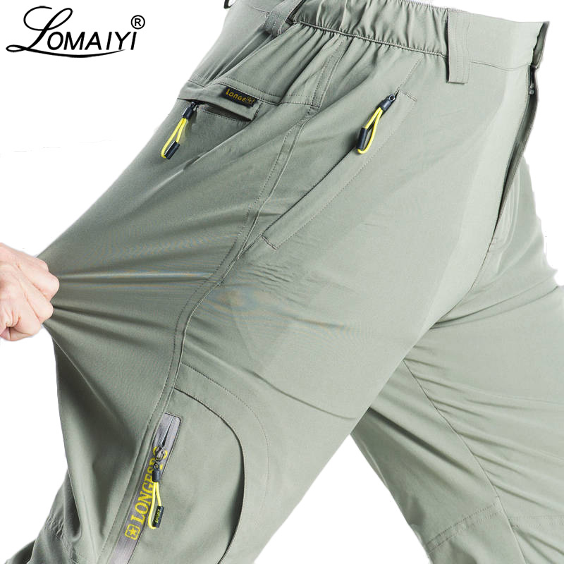 LOMAIYI Plus Size 5XL Men's Summer Pants Men Stretch Quick Dry Pants Thin Breathable Male Trousers Cargo Pants For Men AM381