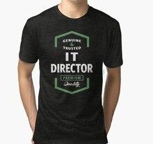 Men tshirt IT Director Logo Tees Tri blend T Shirt women T-Shirt tees top