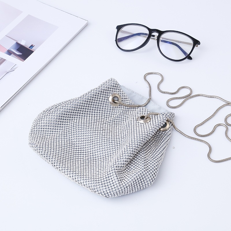 2018 New Style Cross-body Diamond PCs Bucket Bag Evening Bag Banquet WOMEN'S Bag Sequin Clutch Bag A Generation Of Fat