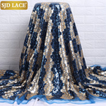 SJD LACE Beautiful Sequence African Sequins Net Lace 2021 High Quality Nigerian Tulle Mesh Lace Fabric For Wedding Dress A2224