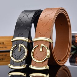2020The New G type smooth buckle unisex belt female watch strap casual wild lady adjustable belt designer high quality brand