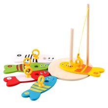 Детская головоломка для раннего образования Деревянные игрушки Цифровая рыболовная Колонка игра родитель-ребенок 24BE