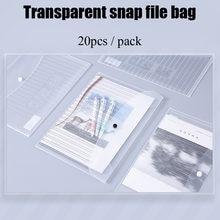 Deli 20 ⑤ упак Прозрачный pp водостойкий держатель для файлов