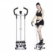 Wielofunkcyjny Mini stepper domowa siłownia utrata masy ciała noga krokowa Fitness krok maszyna kryty krokowy Monitor LCD regulowana wysokość