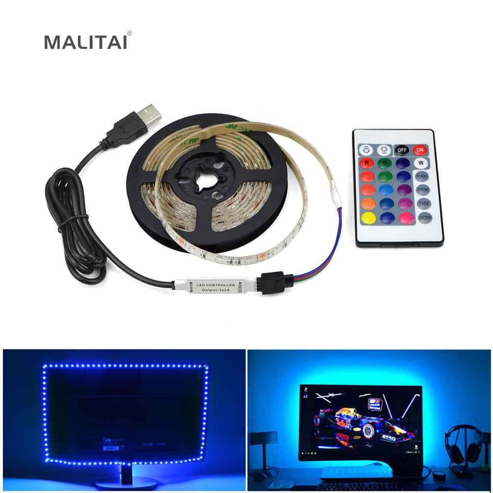 5V USB Power Supply Lampu LED Strip RGB LED Tahan Air Tape Pita 1M 2M 3M 4M 5M PC Lampu Latar TV Pencahayaan Latar Belakang Dekorasi Lampu