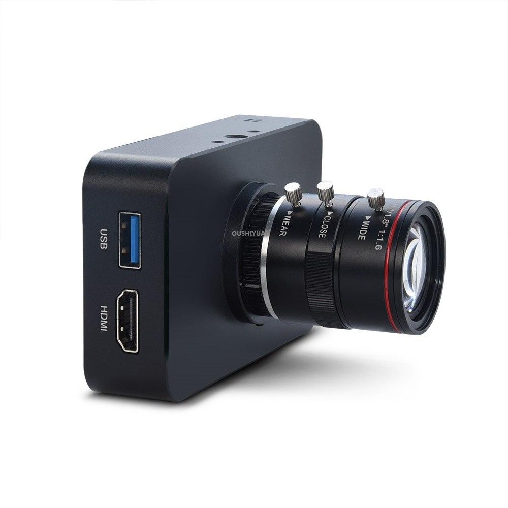 Камера 12 МП HDMI 1080P 60fps 1080i Live, USB камера записи 4K @ 30fps промышленная C/CS-Mount камера с объективом 6-12 мм