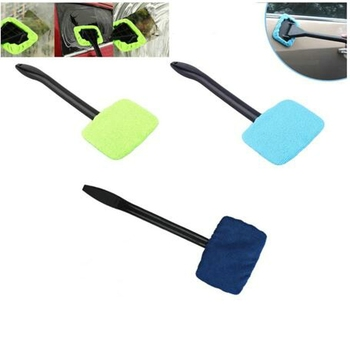 2021 1pc Microfiber Auto Window Cleaner Long Handle Car Washable Brush Car Window Windshield Wiper Cleaner Cloth Clean Tools image
