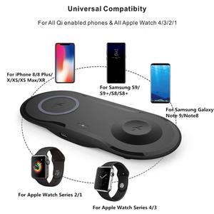 Image 5 - Wireless Charging Pad USB Quick Handy Uhr Dock Qi Drahtlose Ladegerät Für iphone 11 X XS Apple Uhr iwacth samsung Xiaomi