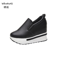 Whoholl Brand Womens Flat Shoes Winter Fashion Solid Wild Round Toe Female Casual Zapatos Mujer 2019