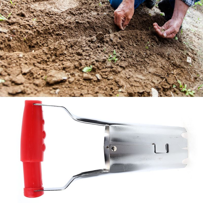 Hand Bulb Planter Soil Digger Gardening Tool Flower Bed Sowing Depth Mark 23cm