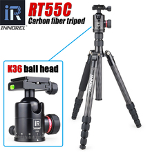 INNOREL RT55C Professional Carbon Fiber Tripod Travel Compact Camera Tripod Video Monopod with Ball Head & Quick Release Plate