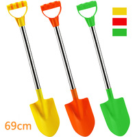 Hot Sales Large Size Thick Stainless Steel Tube Sand Shovel Children Beach Toys Play Sand Dredging Tool 164