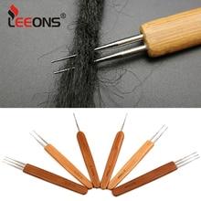 Leeons High Quality Bamboo/Plastic Hook Needles Hair Weaving Crochet 1/2/3head N