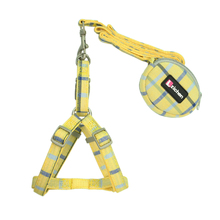 Get more info on the Zichen Pet Dog Harness Leash Set Lattice Thickening Double Nylon Small Purse Dog Harness Pet Leash Perfect for Daily Walking S-M