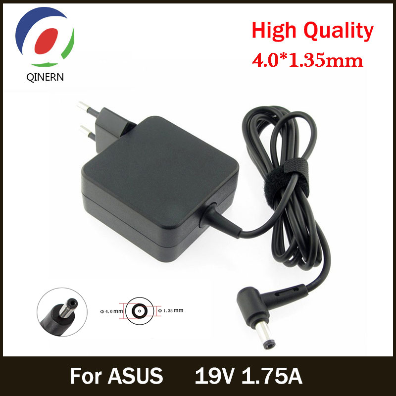 Eu 19v 1.75a 33w 4.0*1.35mm ac laptop charger power adapter for asus adp-33aw s200e x202e x201e q200 s200l s220 x453m f453 x403m