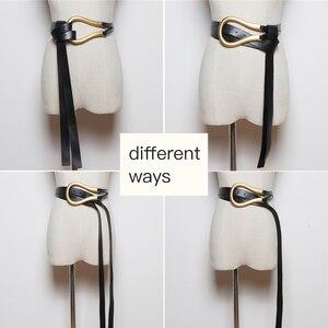 Image 2 - [BXX] 2020 Designer Belts Women High Quality Leather Belt For Dress Luxury Brand Fashion Waist Femme Style Waist Belt HJ717