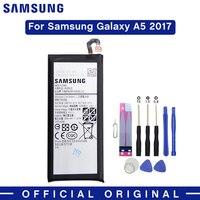 삼성 원래 전화 배터리 EB-BA520ABE 3000mAh 삼성 갤럭시 A5 2017 A520 A520F SM-A520F 정통 배터리 무료 도구
