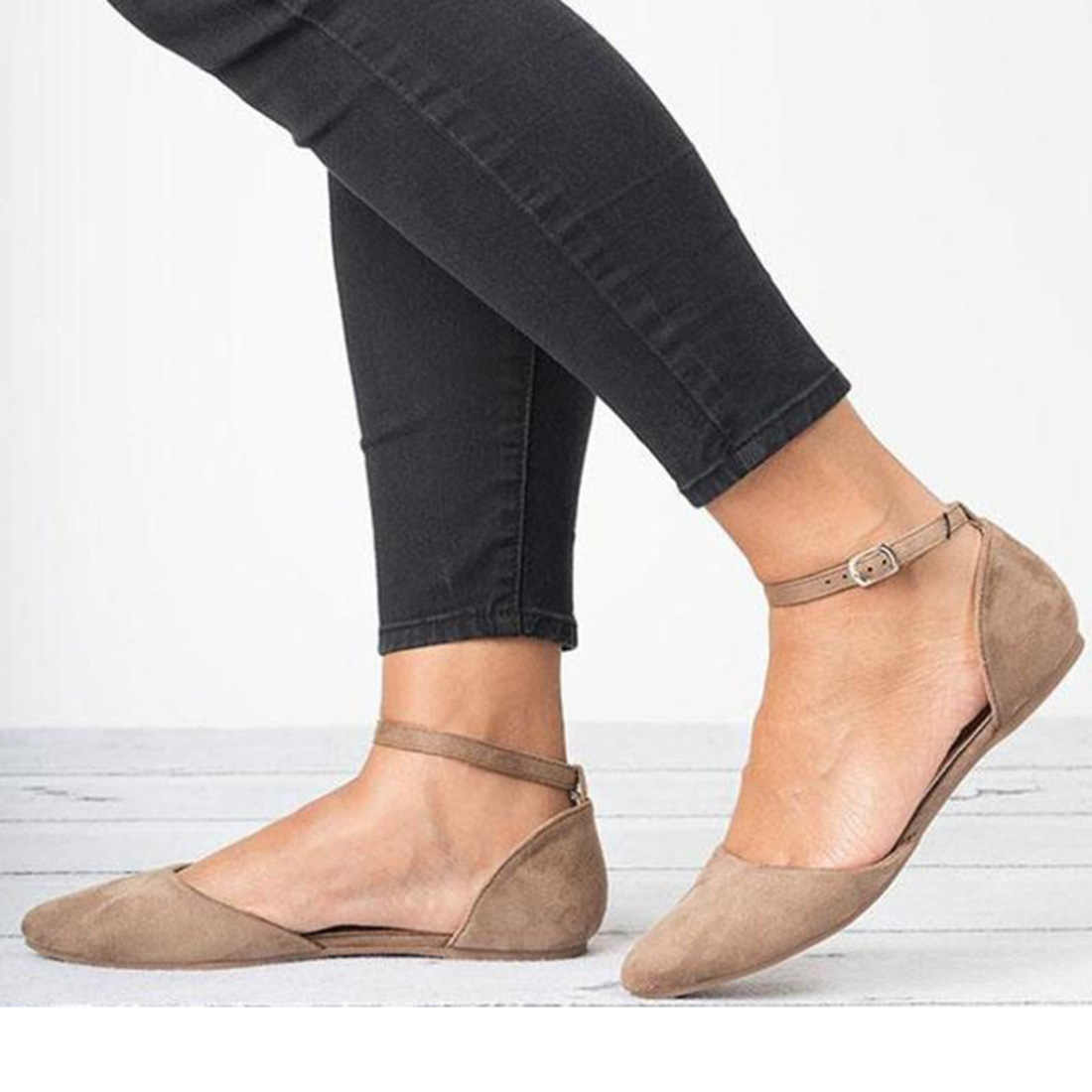 Vrouwen Platte Schoenen 2019 Zomer Loafers Effen Teen Ballet Flats Casual Slip Schoenen Vrouw Vrouwen Ondiepe Platte Lederen Schoenen