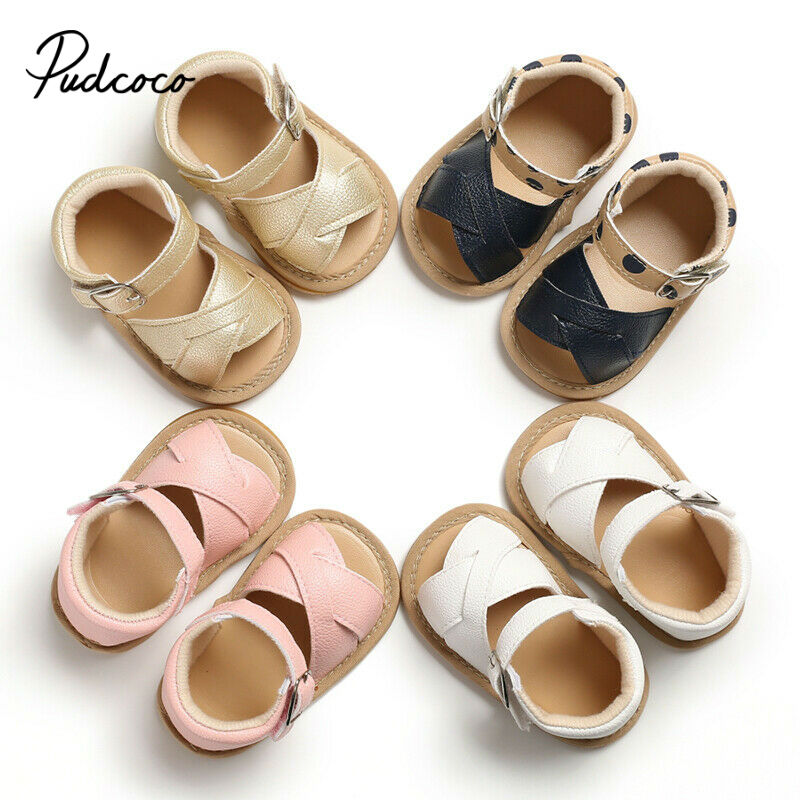 Pudcoco Girls Kids Children Sandals Child Princess 2020 Beach Casual Walking Summer Cool Breathable Sandals Shoes 11-13cm 4color