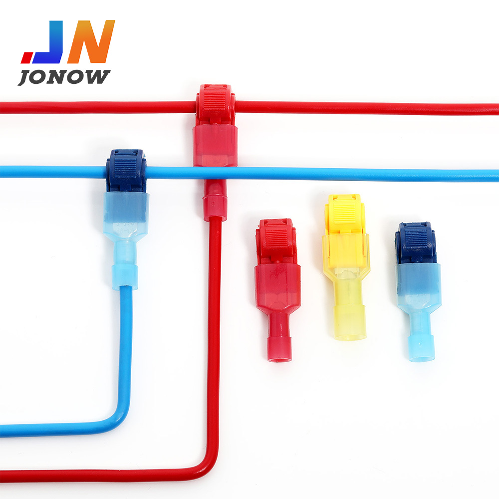 10/50Pairs Electrical Wire Connectors Terminals Crimp Terminal  Cable Connectors Insulated  Snap Splice Lock Wire Self-Stripping