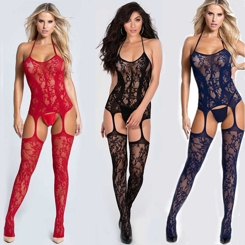 Sexy Body Suits Fetish Bodystocking Vrouwen Erotische Lingerie Porno Babydoll Crotchless Body Pak Ondergoed Kostuums Latex Catsuit