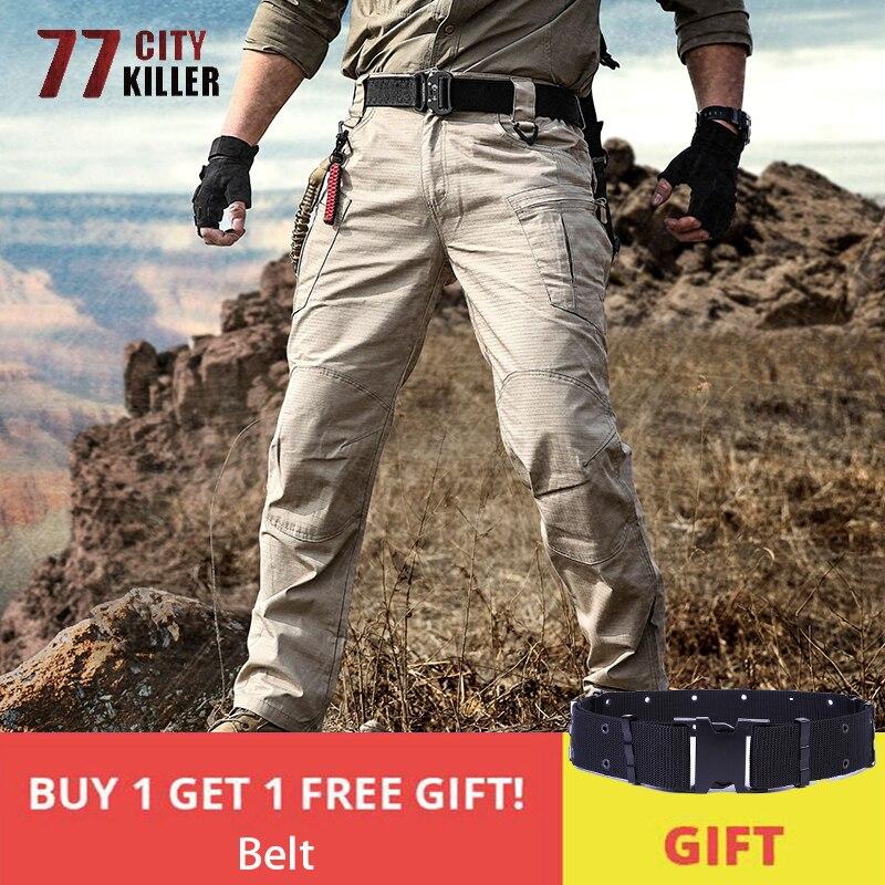 2019 New IX8 Tactical Pants Men Outwear Military Combat Pants Male Wear-Resistant Multi-pocket Cargo Trousers Hombre Size S-2XL
