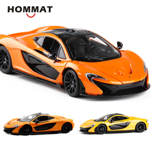 HOMMAT Simulation 1:24 Scale Mclaren P1 Model Car Toy Alloy Diecasts & Toy Vehicles Car Model 1/24 Collectible Gift kids Toys
