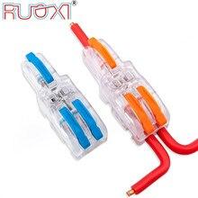 Connecteur de fil One-in-Multiple-Out, poignée de couleur, Terminal de branche, coquille transparente, connecteur parallèle combiné de Type bout à bout