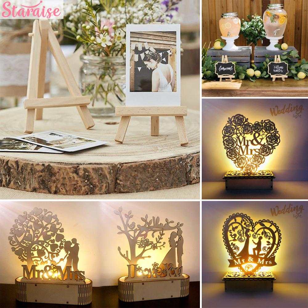 Staraise Wooden Easels Wedding Table Decoration Rustic Wedding Decor for Wedding Party Valentine's Day Gift for girlfriend Pakistan