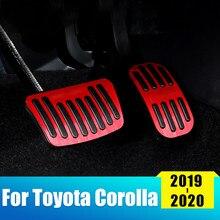 Алюминиевый сплав, автомобильный топливный ускоритель, педаль газа, Тормозная подставка для ног, педали, накладки для Toyota Corolla, 2019, 2020, E210, акс...