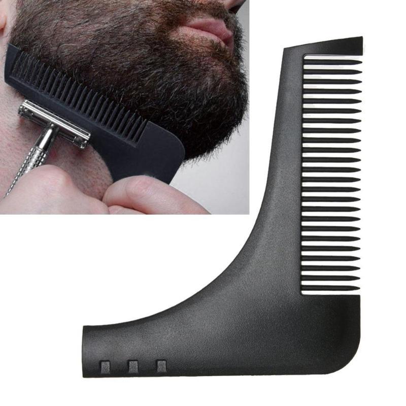 1pc Black Beard Shaving Styling Template Beard Shaping Comb Trimming Tool Beard Styling Template