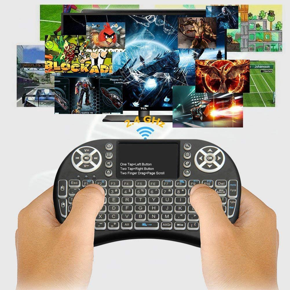 Wireless Keyboard 2.4G I8 Mini Keyboard Backlit Air Mouse Remote Control for Android TV BOX