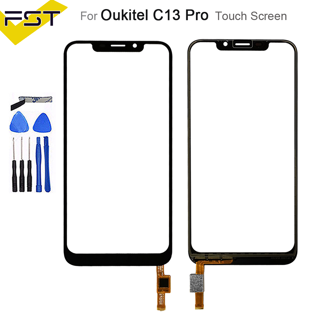 6.18''Black For Oukitel C13 Pro Touch Screen Digitizer Sensor Touch Panel Replacement For C13 Pro No Lcd+Tools